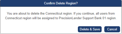 confirm region deletion message