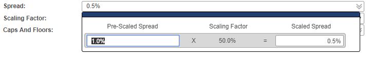Set pre-scale or post scale spread in spread dialog box