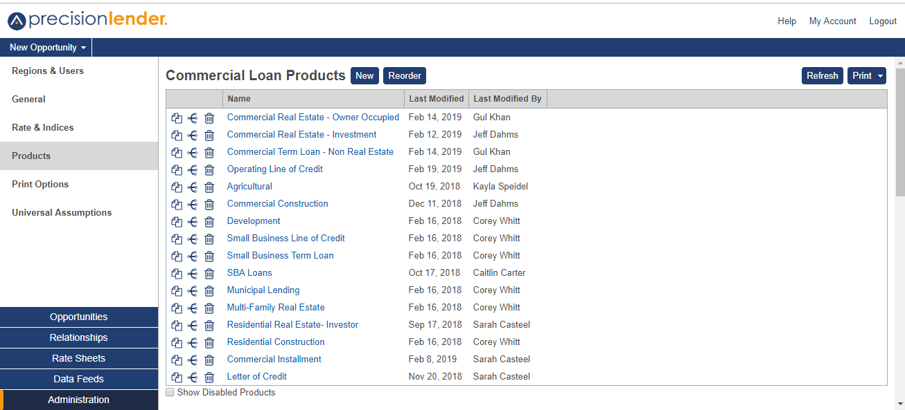 Commerical Loan Products