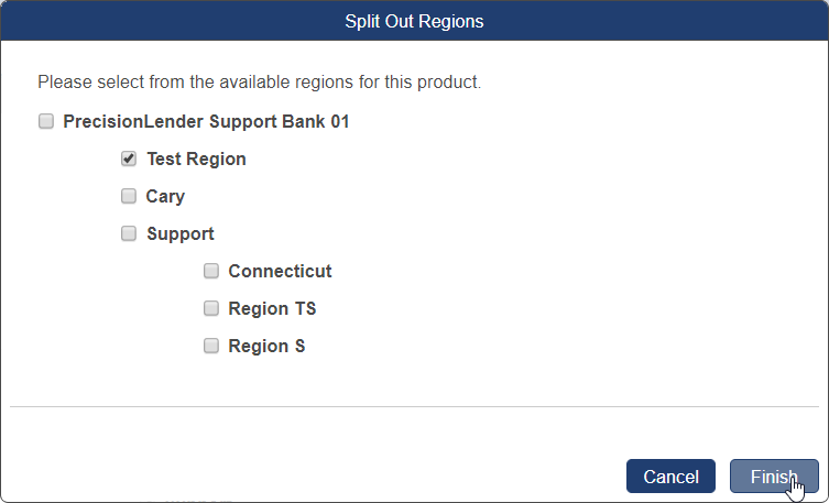 Shows the Split Out Region dialog box
